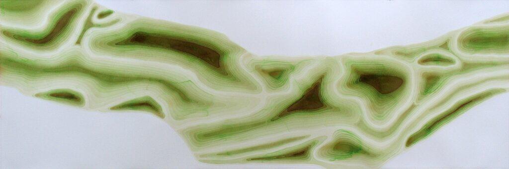 Dead Zone (Gulf of Mexico), 2008 Watercolor